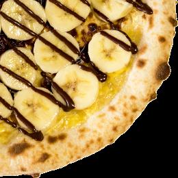 バナナ&チョコレートのピッツァ